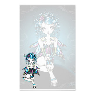 """Gracie"" Gothic Couture Swallow Fairy Stationery"