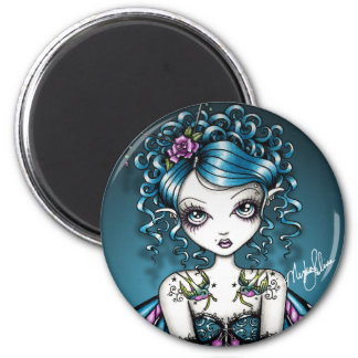 Gracie Gothic Couture Swallow Tattoo Fairy 2 Inch Round Magnet