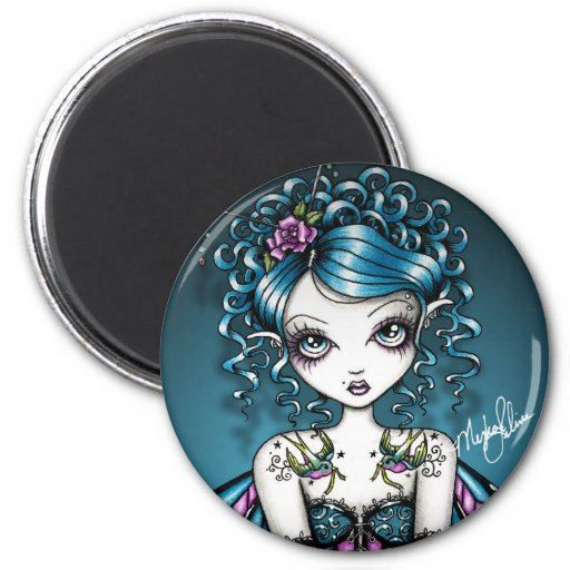 Gracie Gothic Couture Swallow Tattoo Fairy Refrigerator Magnets