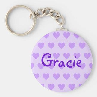 Gracie in Purple Keychain