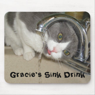 Gracie s Sink Drink Mousepads