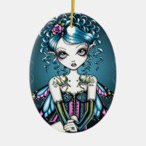 gracie, swallow, tattoo, fairy, faerie, fantasy, art, faery, big, eyed, myka, jelina, mika, faeries, Ornament with custom graphic design