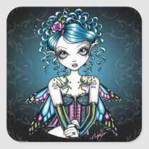 gracie, swallow, tattoo, fairy, faerie, fantasy, art, faery, big, eyed, myka, jelina, mika, faeries, Sticker with custom graphic design