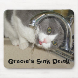 Gracie's Sink Drink Mouse Pad
