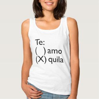 """Graciosa """"Te amo/tequila"""" Español Playera Con Tirantes"""