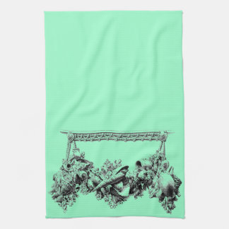 Gracious Bakeware Baroque Sea Shell Swag Wreath Hand Towel