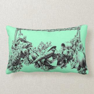 Gracious Beach House Baroque Sea Shell Swag Wreath Pillows