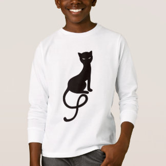 Gracious Evil Black Cat  Long Sleeve Kids T-Shirt