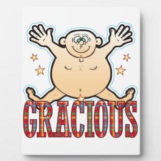 Gracious Fat Man Plaque