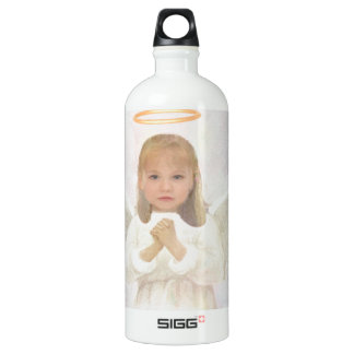 Gracious - Little Girl Angel Praying Aluminum Water Bottle