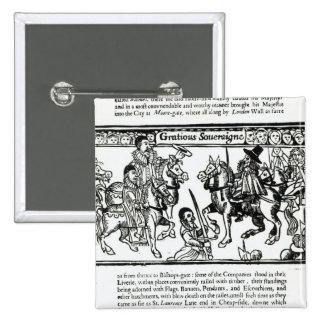 Gracious Sovereign, c.1631 2 Inch Square Button