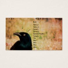 Grackle Bird Digital Art Business Card at Zazzle