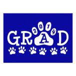 GRAD 2014 Blue and White PAWS Graduation Invite