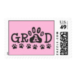 GRAD 2014 PAWS Pink and Black Postage