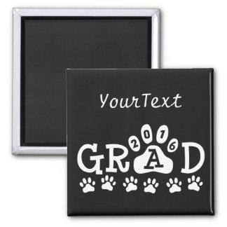GRAD 2016 Paw Print © Theme Graduation Magnet