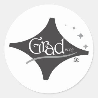 grad.ai classic round sticker