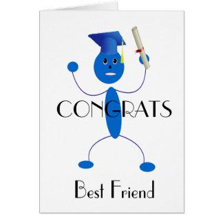 Grad Blue Guy Greeting Card