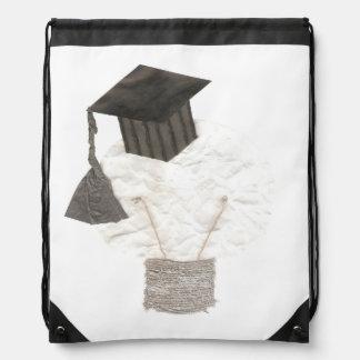 Grad Bulb No Background Drawstring Bag