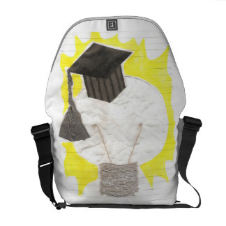Grad Bulb With Background Rusksack Courier Bag
