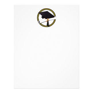 Grad Cap & Diploma - Gold and Black School Colors Flyer