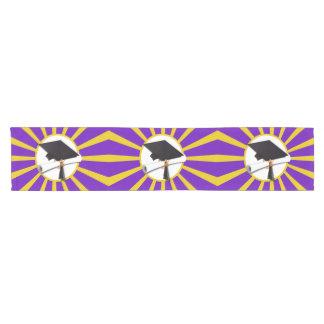 Grad Cap U0026amp; Diploma   Purple And Gold School Colors Short Table Runner