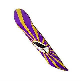 Grad Cap & Diploma - Purple and Gold School Colors Custom Skate Board