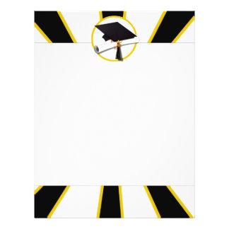 Grad Cap & Diploma w/School Colors Black and Gold Flyer