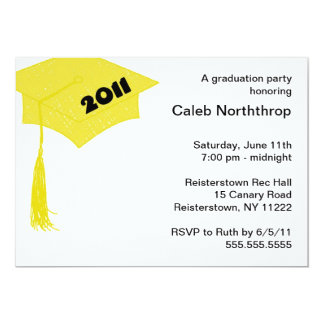 Grad Cap Sketch Gold 2011 invitation