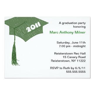 Grad Cap Sketch Green 2011 invitation