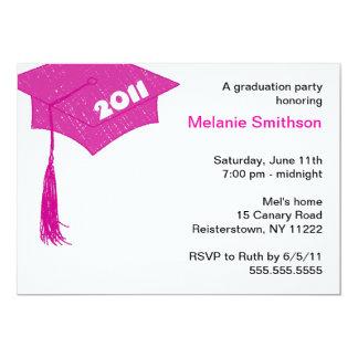 Grad Cap Sketch Hot Pink 2011 invitation