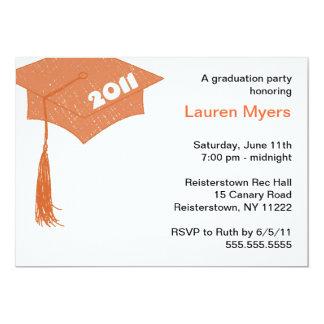 Grad Cap Sketch Orange 2011 invitation