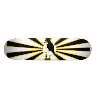 Grad Cap Tilt w School Colors Black and Gold Skateboards