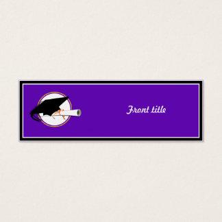 Grad Cap Tilt w/ School Colors Purple And Gold Mini Business Card