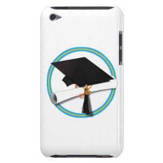 Grad Cap w/ Diploma - Gold & Lt Blue School Colors iPod Touch Case-Mate Case
