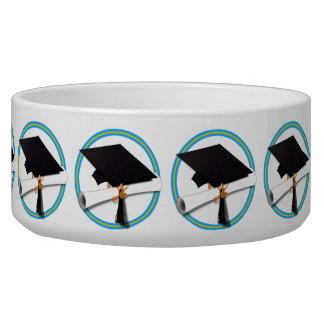 Grad Cap w/Diploma - School Colors Gold & Lt Blue Bowl