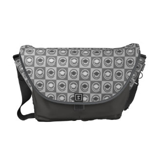 Grad Caps Pattern Messenger Bag