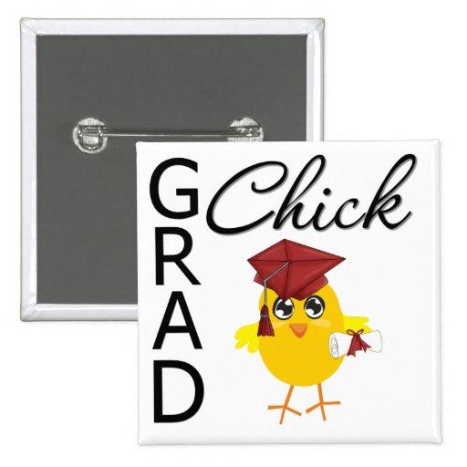 Grad Chicks (Burgundy Cap) Button