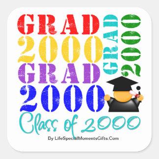 Grad  Class of 2000 Sticker