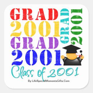 Grad  Class of 2001 Sticker