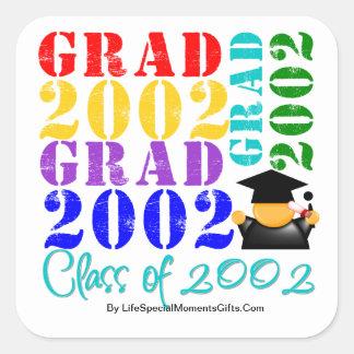 Grad  Class of 2002 Square Sticker