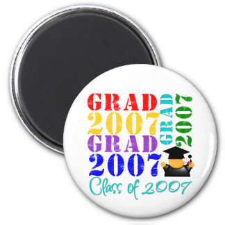 Grad  Class of 2007 2 Inch Round Magnet