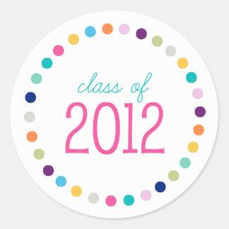 Grad Class of 2012 Sticker // Multi Dots