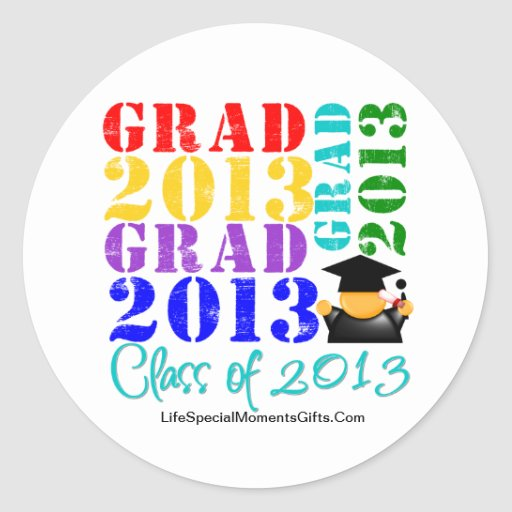 Grad  Class of 2013 Stickers