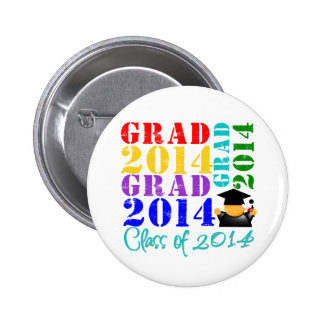 Grad  Class of 2014 Pinback Button