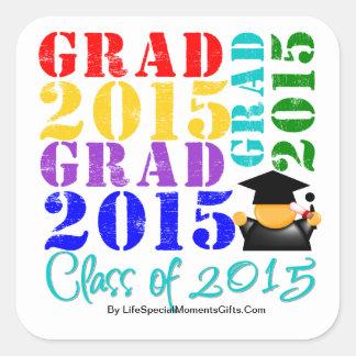 Grad  Class of 2015 Square Stickers