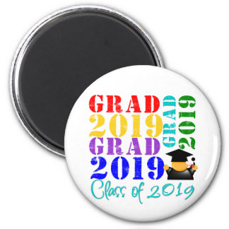 Grad  Class of 2019 2 Inch Round Magnet