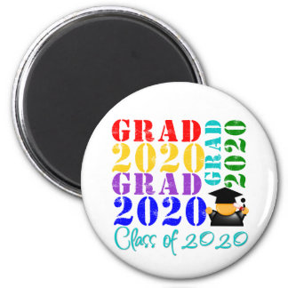 Grad  Class of 2020 2 Inch Round Magnet