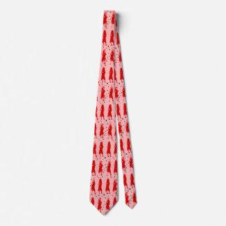 Grad Girls Red Striped Swirl Neck Tie