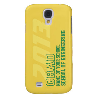 GRAD green yellow gold school year name graduation Samsung Galaxy S4 Cover