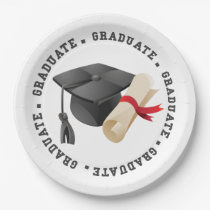 Grad Hat and Degree paper plates